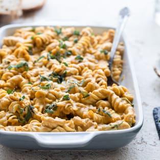 Creamy pumpkin pasta sauce photo