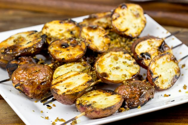 Garlic Rosemary Grilled Potatoes Photo