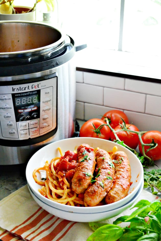 Instant Pot Italian Sausage Bell Pepper Sauce Picture