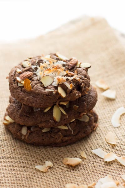 Double Chocolate Almond Joy Cookies Picture