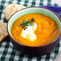 Roasted Carrot Ginger Soup Recipe
