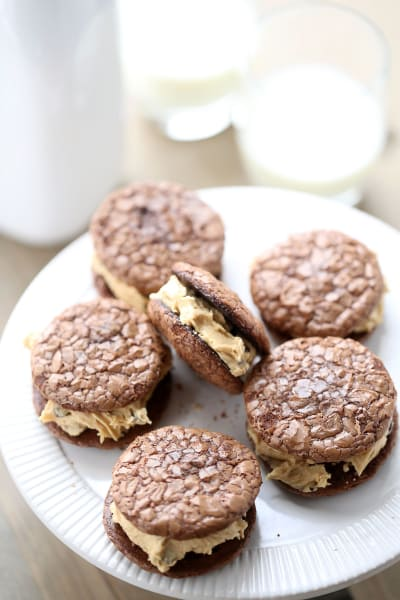 Peanut Butter Chocolate Sandwich Cookies - Food Fanatic