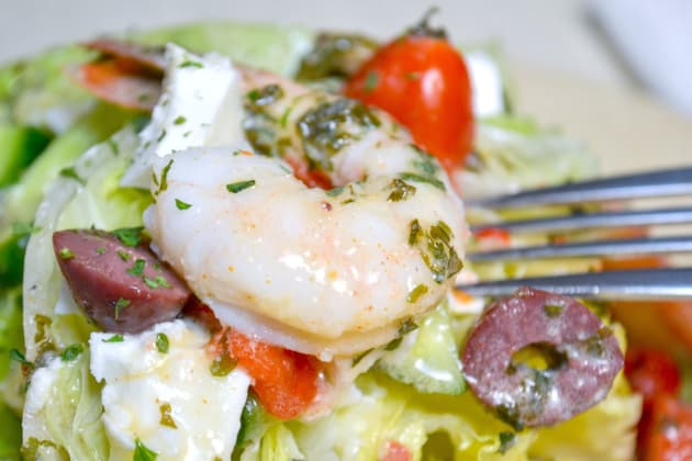 Mediterranean Shrimp Wedge Salad Image