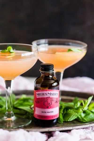 Grapefruit Campari Rose Water Cocktail Pic
