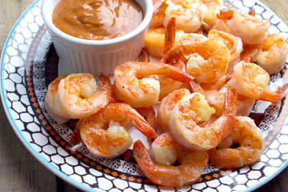 Sautéed Garlic Shrimp with Homemade Cocktail Sauce