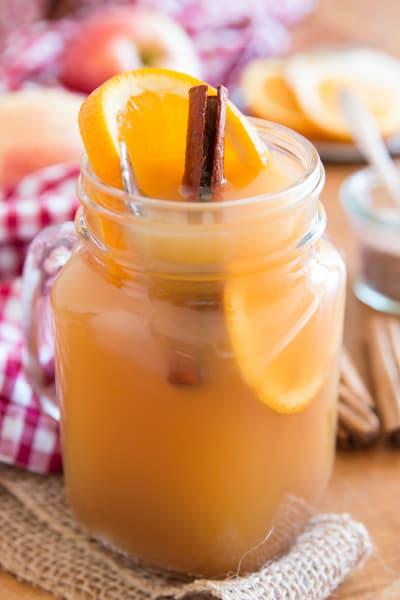 Slow Cooker Spiced Apple Cider with Orange Image