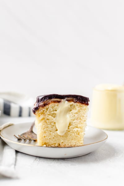 Boston Cream Pie Poke Cake Pic
