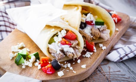 Instant Pot Greek Pork Wraps Recipe