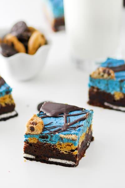 Cookie Monster Brownies Pic