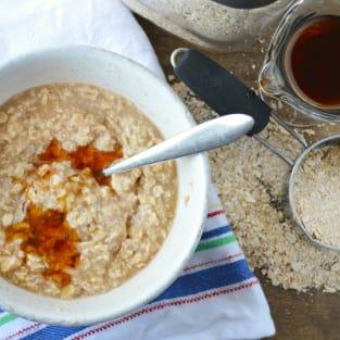Homemade instant oatmeal photo