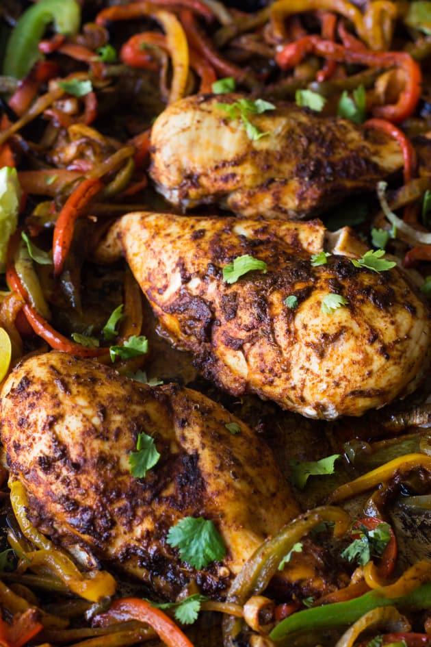 Sheet Pan Chicken Fajitas - Food Fanatic