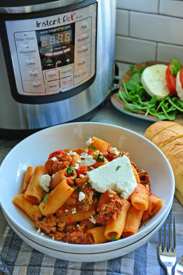 File 1 - Instant Pot Sausage & Rigatoni with Goat Cheese
