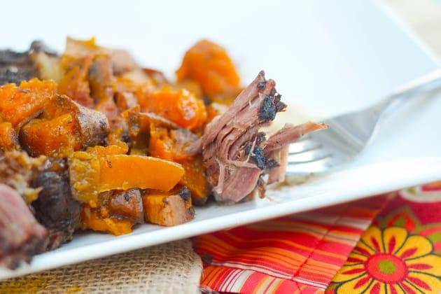 Slow Cooker Roast with Maple Sweet Potatoes Image