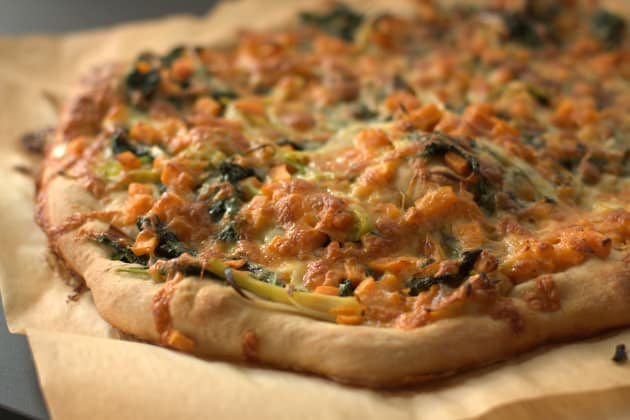 Kale and Sweet Potato Pizza Picture