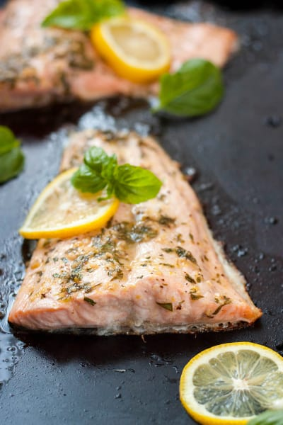 Lemon Basil Salmon Image