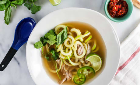 Thai Chicken Soup with Zucchini Noodles Recipe