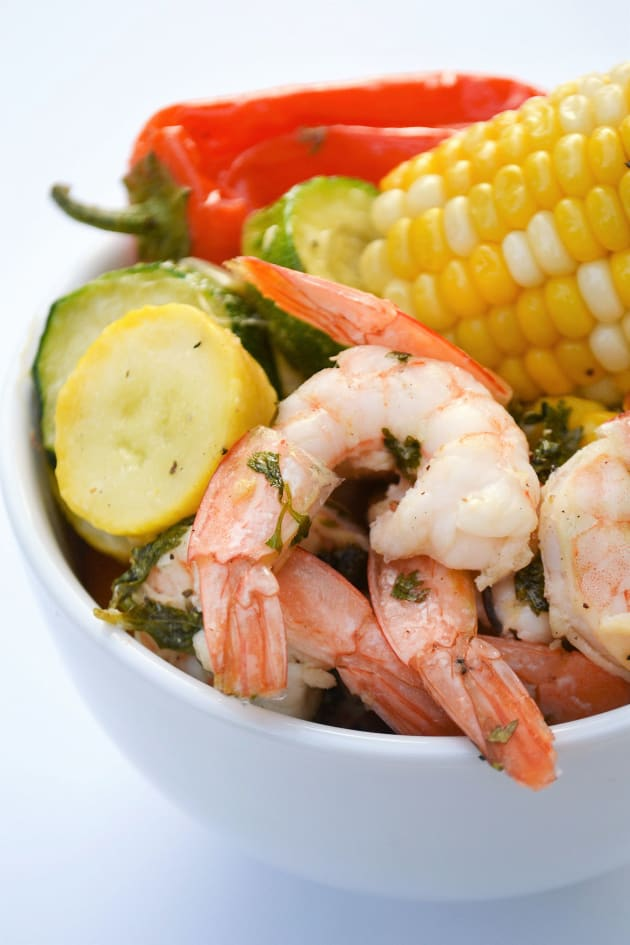 Sheet Pan Roasted Shrimp and Summer Vegetables Image