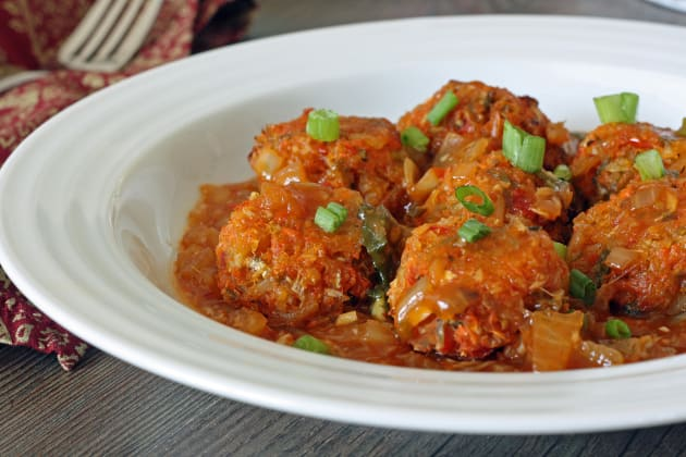 Baked Vegetable Manchurian Photo