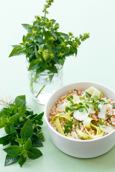 Deconstructed Pesto Couscous Salad Image