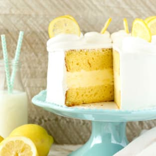 Lemon ice cream cake photo