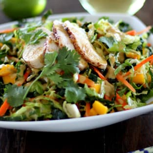 Thai chopped chicken salad photo
