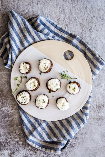 Garlic Herb Goat Cheese Stuffed Mushrooms Pic