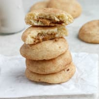 Biscoff Stuffed Vanilla Bean Snickerdoodles Recipe