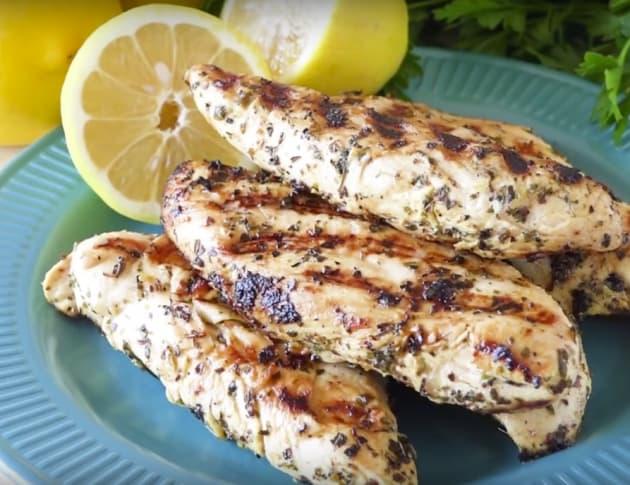 Grilled Lemon Chicken Tenders