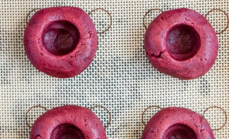 Red Velvet Thumbprint Cookies Image