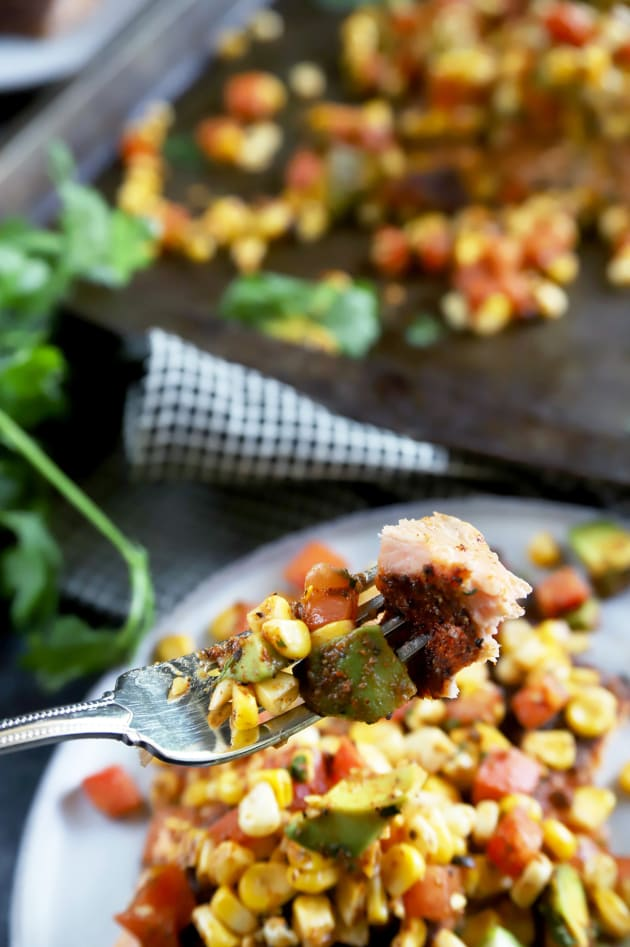 Grilled Salmon with Corn Avocado Salsa Picture