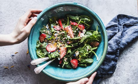 Strawberry Spinach Salad with Feta and Avocado Recipe