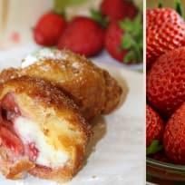Strawberry Cream Cheese Puffs