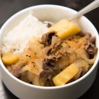 Nikujaga (Japanese meat and potato stew)