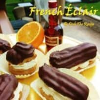 French Chocolate Eclair Profiteroles-Cream Puff