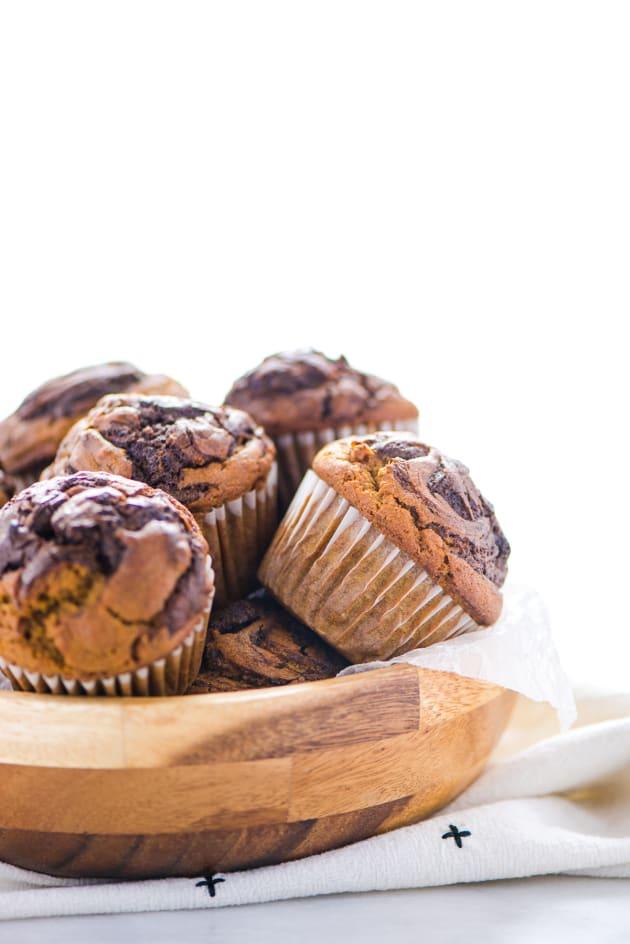 Gluten Free Nutella Swirl Pumpkin Muffins Image
