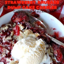 Strawberry Rhubarb Dump Cake Cobbler