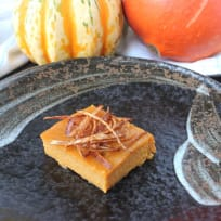 Thai Custard Tart with Pumpkin - Khanom Mo Kaeng