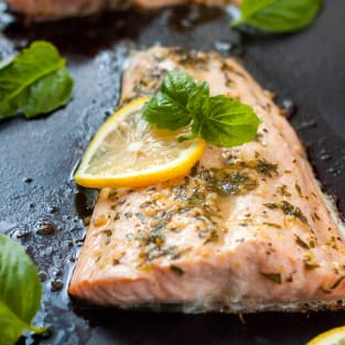 Lemon basil salmon photo
