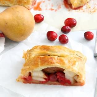 Cranberry pear strudel photo