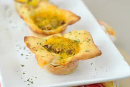 Gluten Free Breakfast Pizza Cups