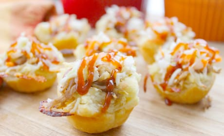 BBQ Shredded Pork Cups with Cheese Recipe