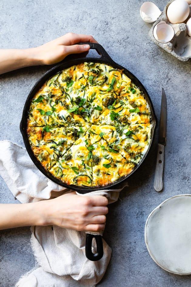 Broccoli Cheddar Zoodle Bake Image