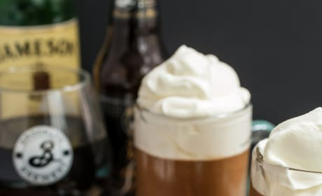 Chocolate Stout Mousse with Whiskey Cream Picture