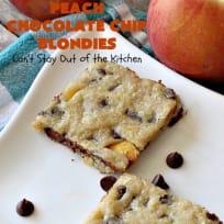 Peach Chocolate Chip Blondies