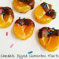 Chocolate Dipped Clementine Hearts
