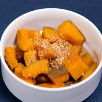 Kabocha nimono (Simmered kabocha squash) 南瓜煮物
