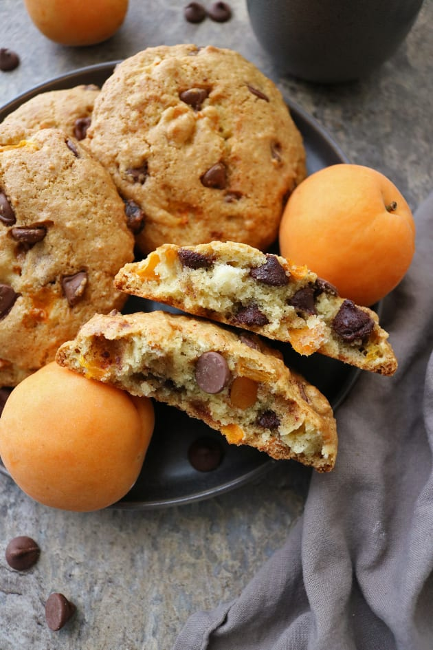 Chocolate Chip Muffin Tops with Apricots Picture