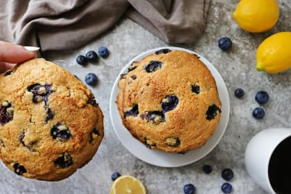 Gluten Free Lemon Blueberry Muffin Tops Recipe