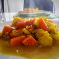 Vegetable Curry with Dates & Coconut Milk