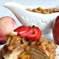 Gluten Free Pancakes with Apple, Peach and Pear Compote